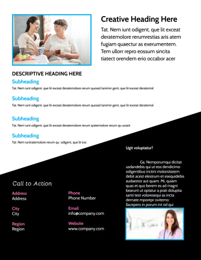 Nursing Home Care Flyer Template Preview 2