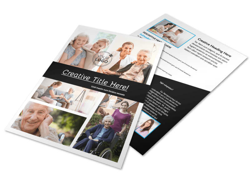 Nursing Home Care Flyer Template Preview 1