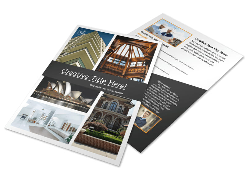 Architecture & Design Service Flyer Template Preview 4