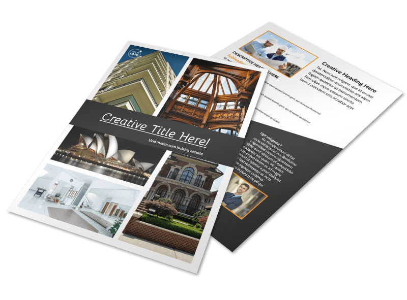 Architecture & Design Service Flyer Template Preview 1