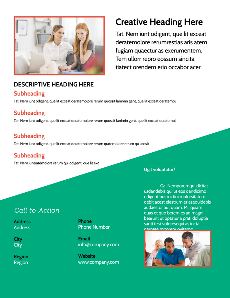 School Counseling Flyer Template Preview 3