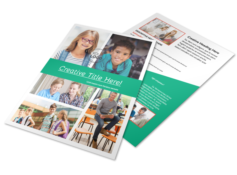 School Counseling Flyer Template Preview 1