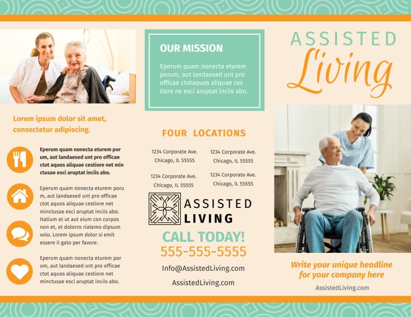 Elder Care Nursing Home Brochure Template