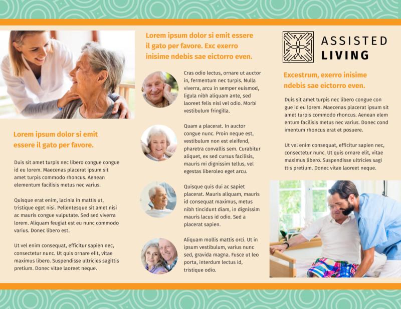 Nursing Home Care Brochure Template Preview 3