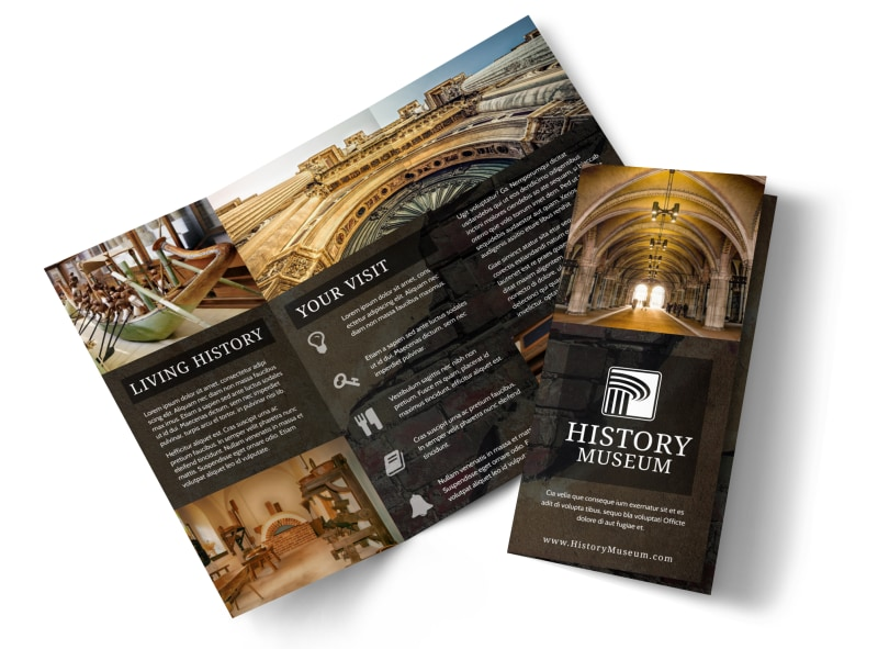 information brochure template - museum information brochure template mycreativeshop