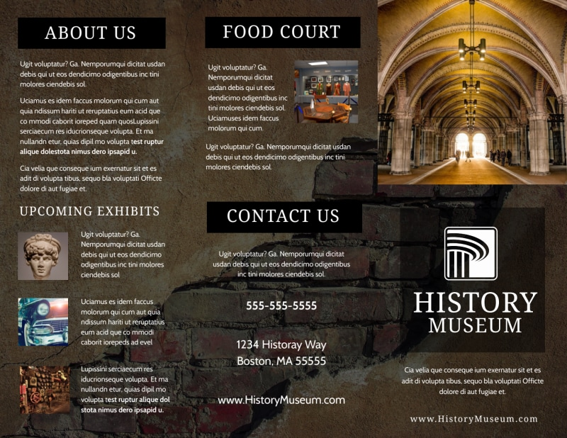 Museum Information Brochure Template Preview 2