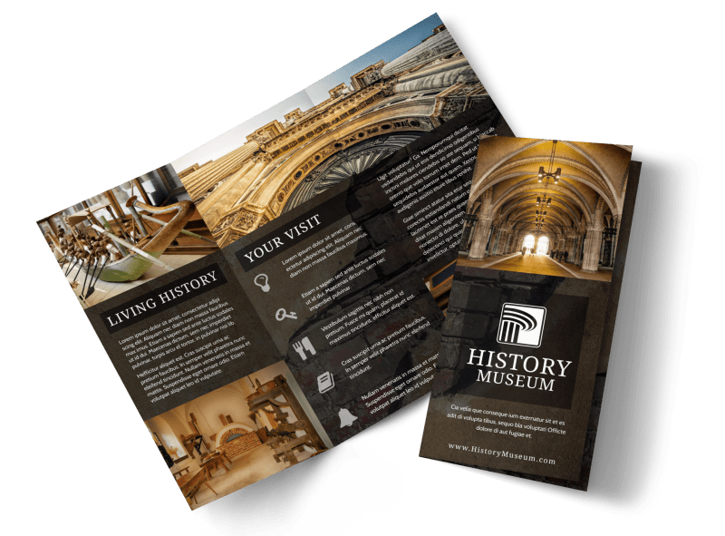 Museum Information Brochure Template Preview 1