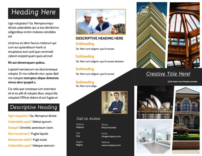 Architecture & Design Service Brochure Template Preview 2