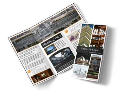 Architecture & Design Service Tri-Fold Brochure Template preview