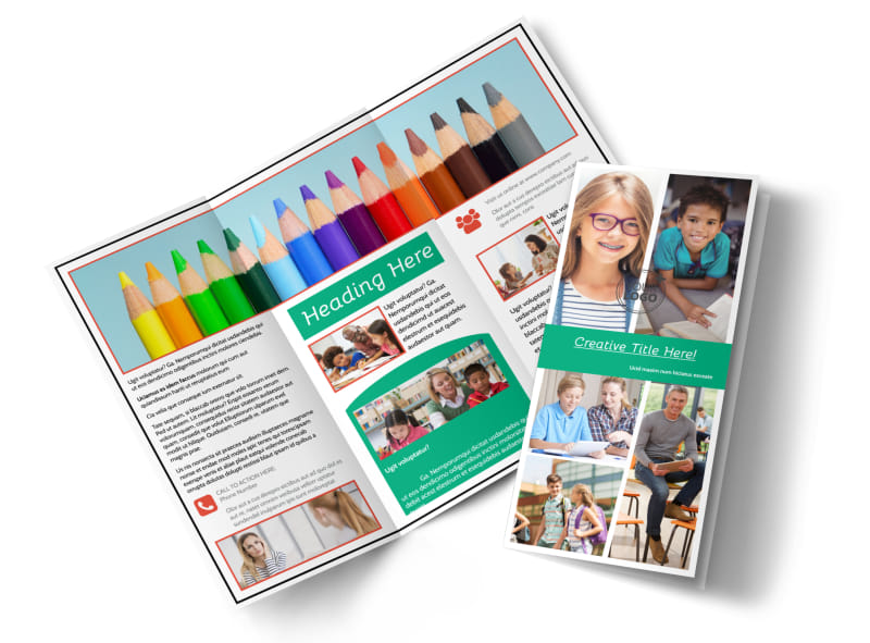School Counseling Brochure Template | Mycreativeshop