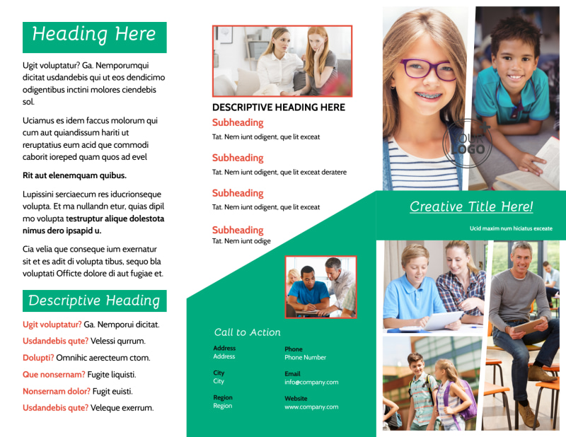 School Counseling Brochure Template Preview 2