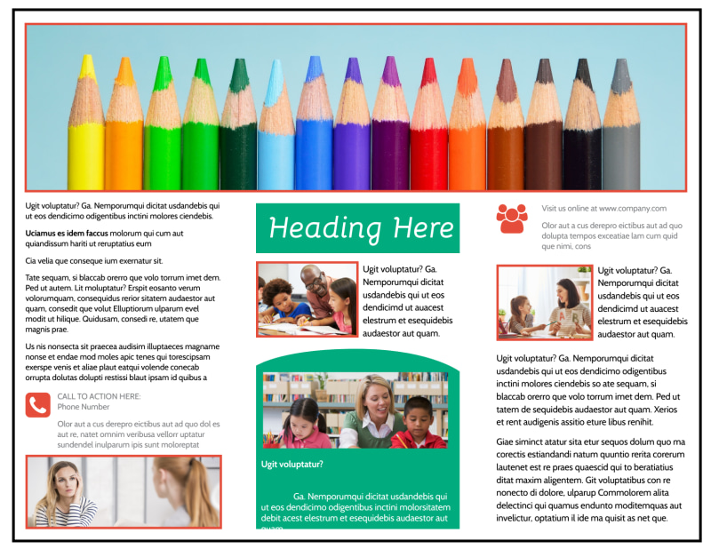 School Counseling Brochure Template Preview 3
