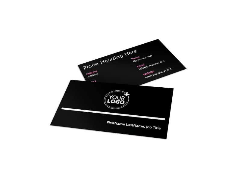 Nursing Home Care Business Card Template Preview 1