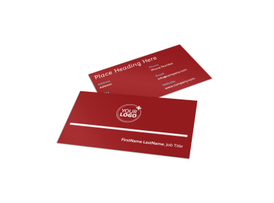 Museum Information Business Card Template