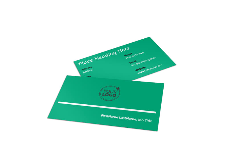 School Counseling Business Card Template