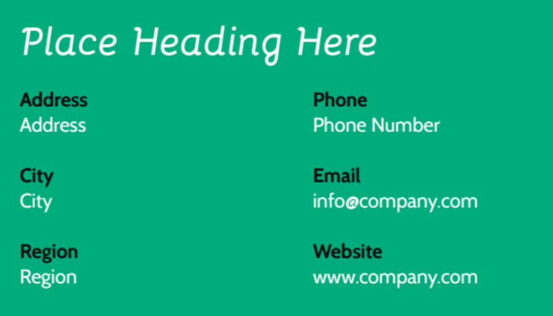 School Counseling Business Card Template Preview 3