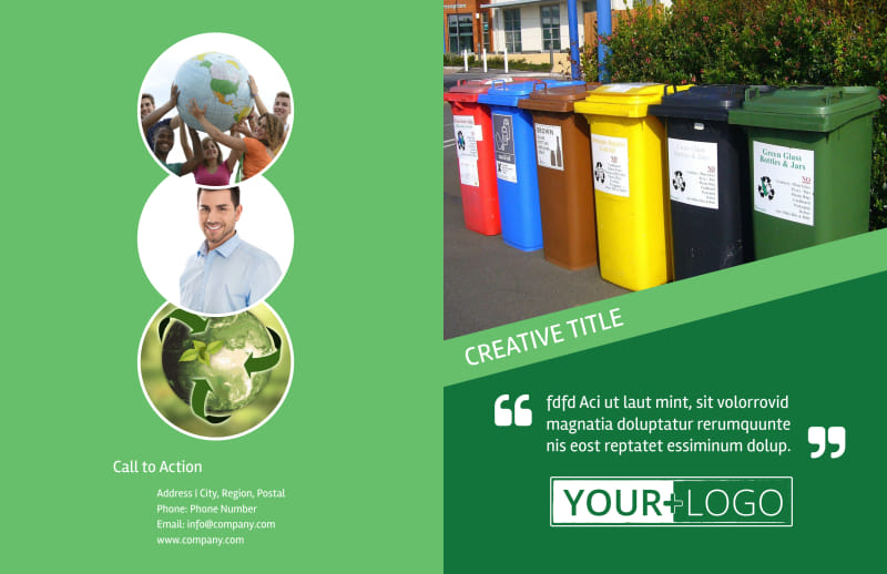Green Recycling Service Brochure Template Preview 2