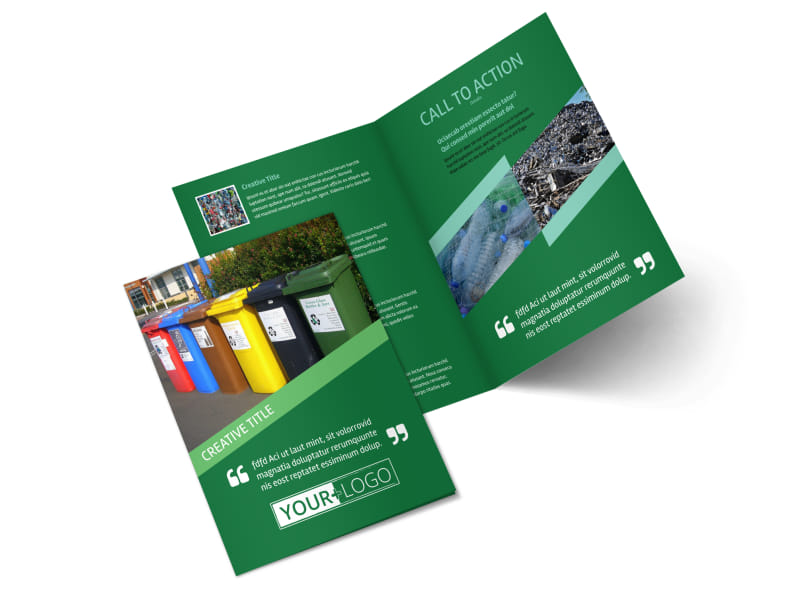 Green Living & Recycling Brochure Template 2