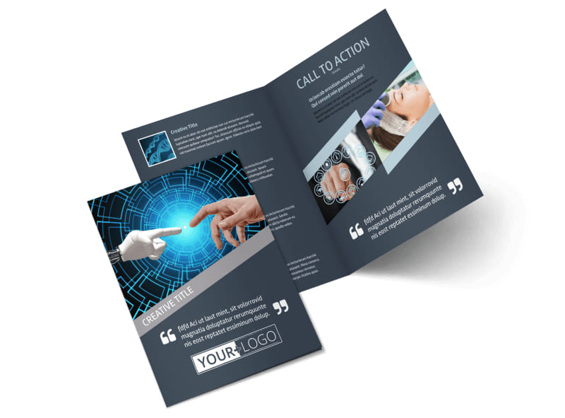 Medical Device Technology Bi-Fold Brochure Template 2