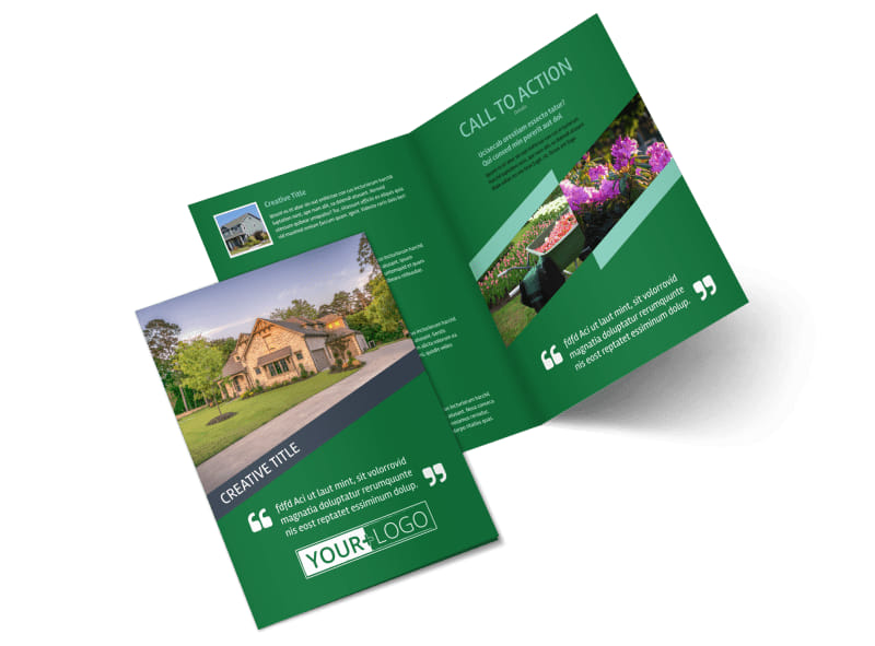 Big Landscape Bi-Fold Brochure Template 2