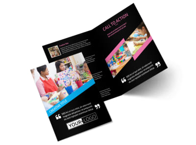 Arts & Craft Lessons Bi-Fold Brochure Template 2 preview