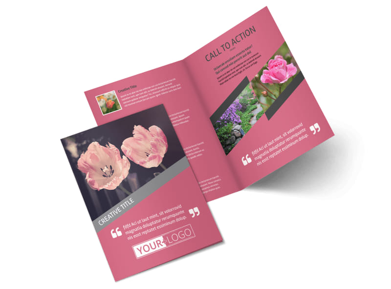 Floral Photography Bi-Fold Brochure Template 2