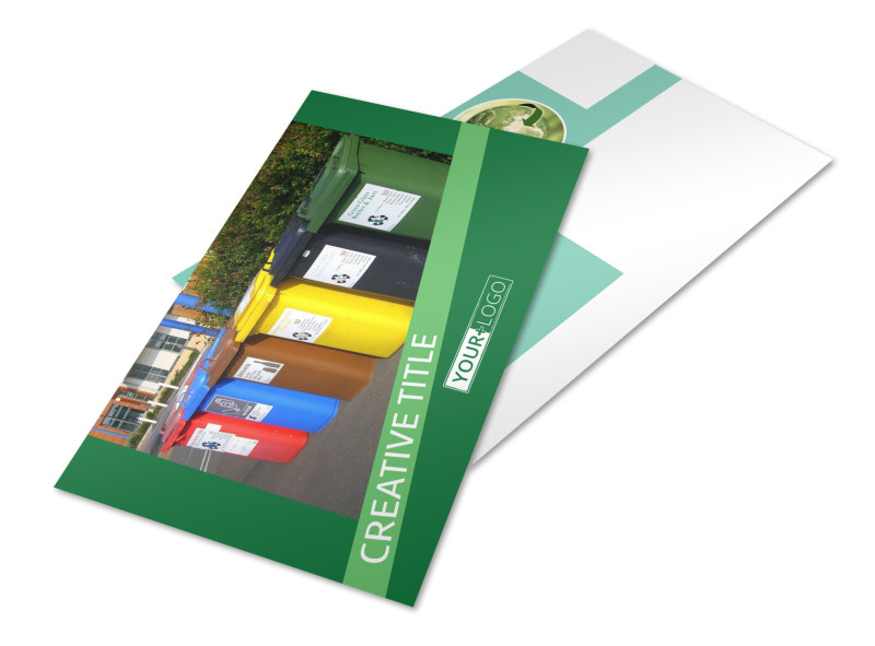 Green Living & Recycling Postcard Template 2