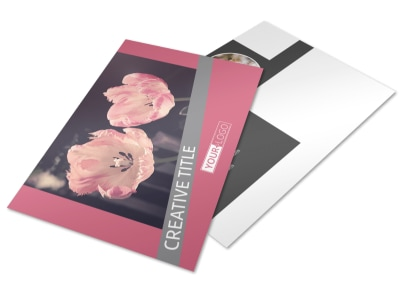 Floral Photography Postcard Template 2