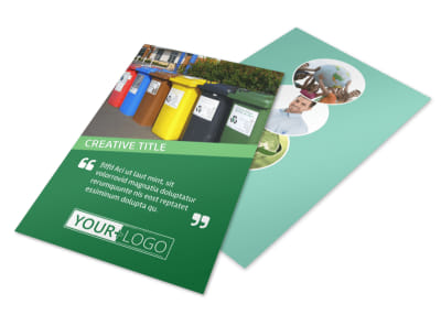 Green Living & Recycling Flyer Template 3