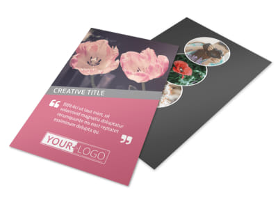 Floral Photography Flyer Template 3