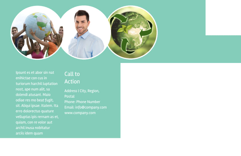 Green Recycling Service Postcard Template Preview 3