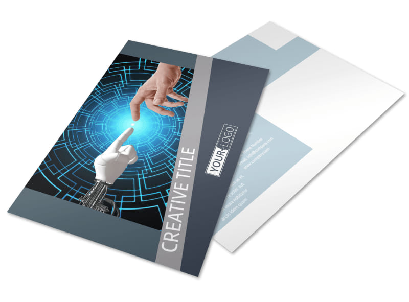 Medical Device Technology Postcard Template Preview 4