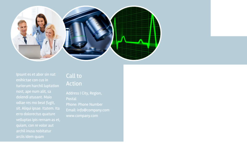 Medical Device Technology Postcard Template Preview 3