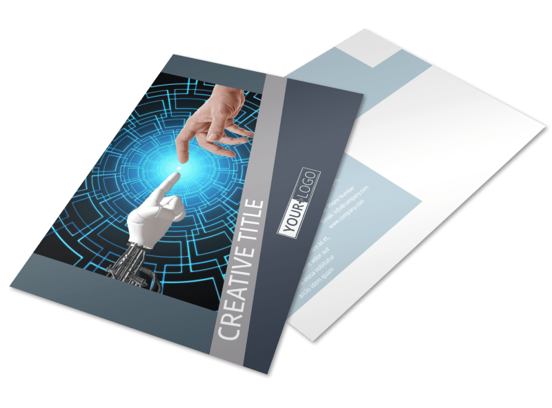 Medical Device Technology Postcard Template Preview 1