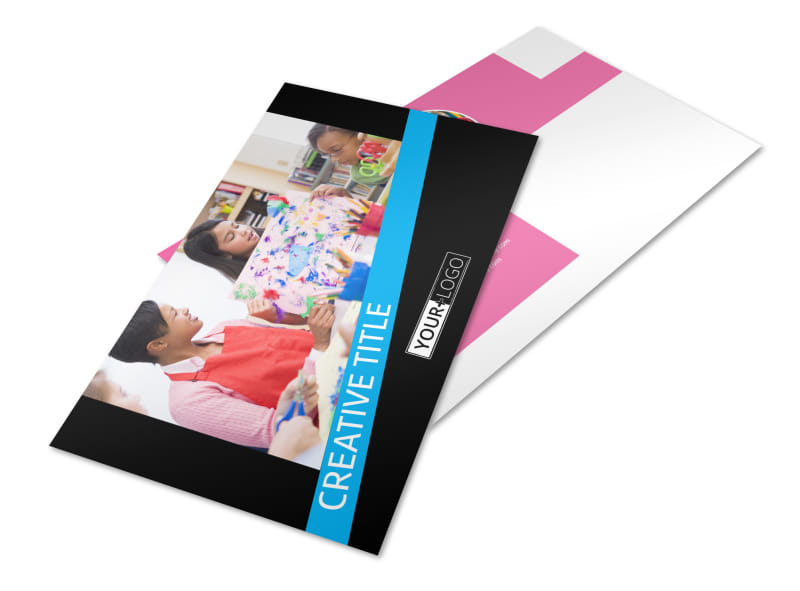 Arts & Craft Lessons Postcard Template Preview 4