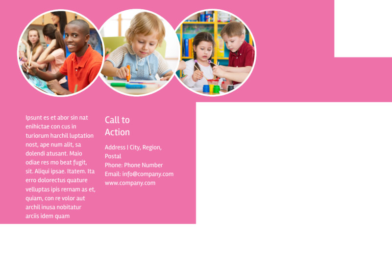 Arts & Craft Lessons Postcard Template Preview 3