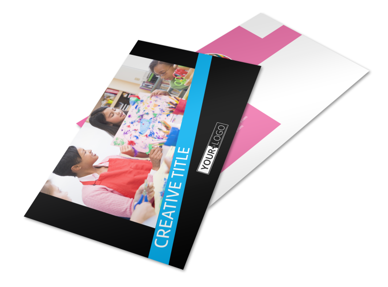 Arts & Craft Lessons Postcard Template Preview 1