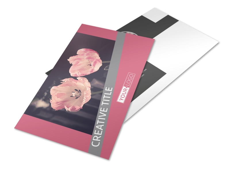 Floral Photography Postcard Template