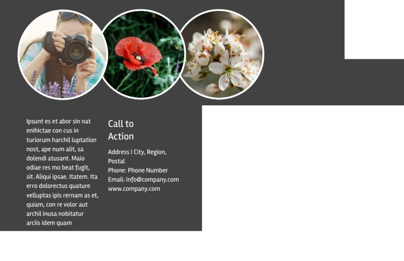 Floral Photography Postcard Template Preview 3