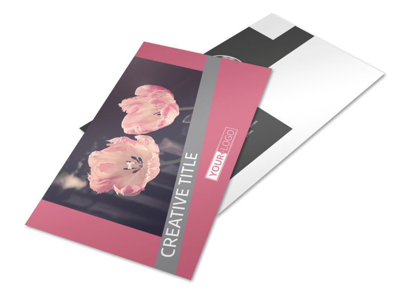 Floral Photography Postcard Template Preview 1