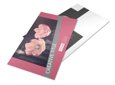 Floral Photography Postcard Template preview
