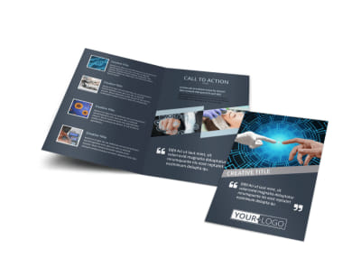 Medical Device Technology Bi-Fold Brochure Template