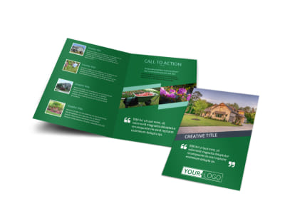 Big Landscape Bi-Fold Brochure Template preview
