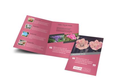 Floral Photography Bi-Fold Brochure Template