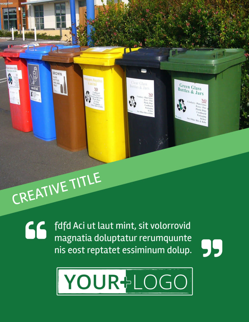 Green Recycling Service Flyer Template Preview 2