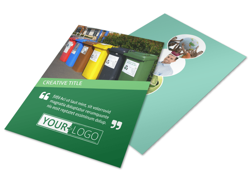 Green Recycling Service Flyer Template Preview 1