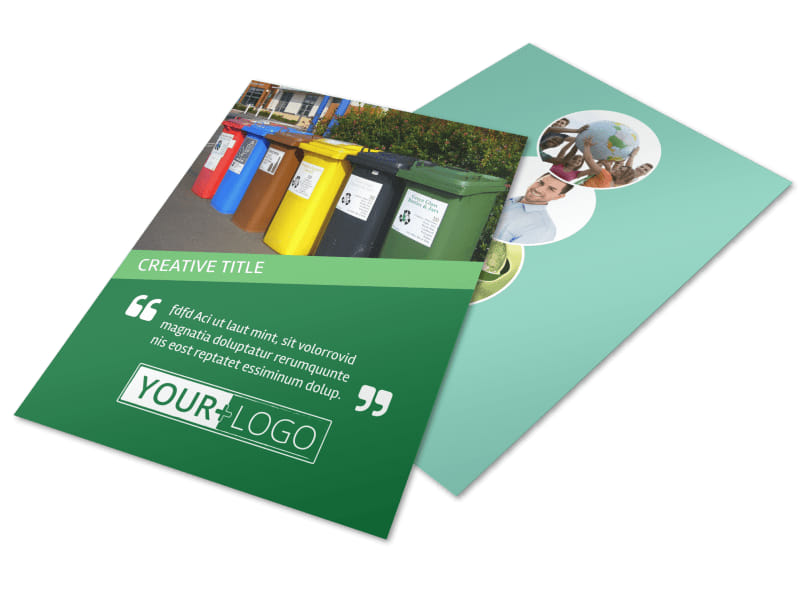 Green Recycling Service Flyer Template  Mycreativeshop