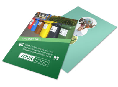 Green Living & Recycling Flyer Template preview