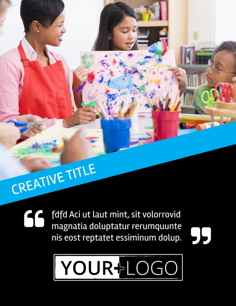 Arts & Craft Lessons Flyer Template Preview 2