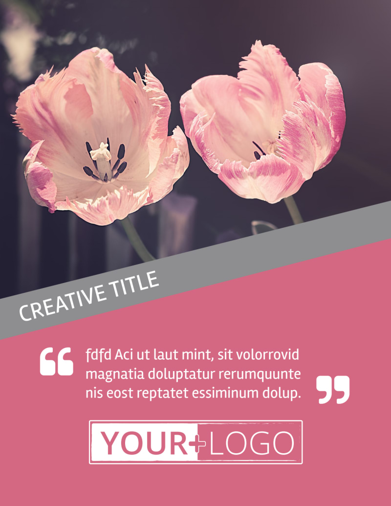 Floral Photography Flyer Template Preview 2